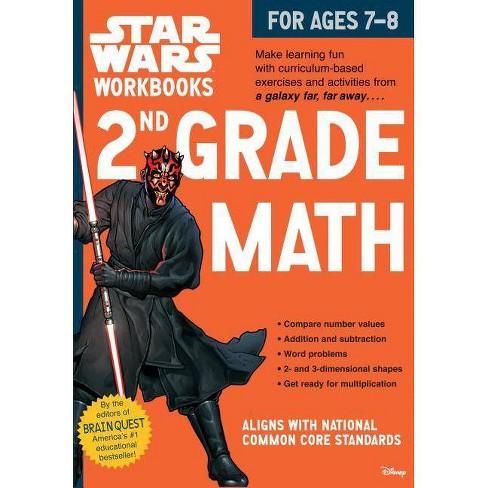 2nd Grade Math - (Star Wars Workbook) by Workman Publishing (Paperback)