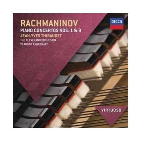 Jean-Yves Thibaudet - Virtuoso: Rachmaninov- Piano Concertos Nos. 1 & 3 (CD) - image 1 of 1