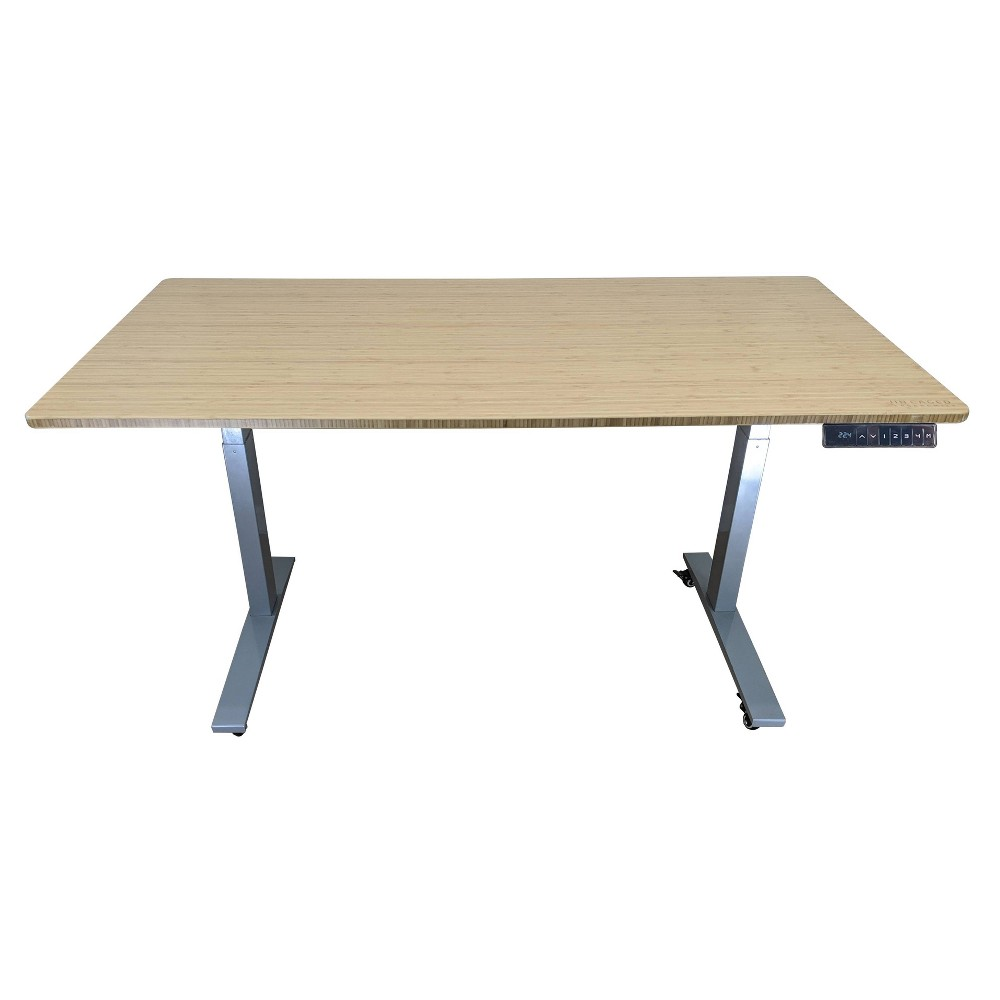 "Image of ""48""""x30"""" Adjustable Standing Desk Gray - Uncaged Ergonomics"""