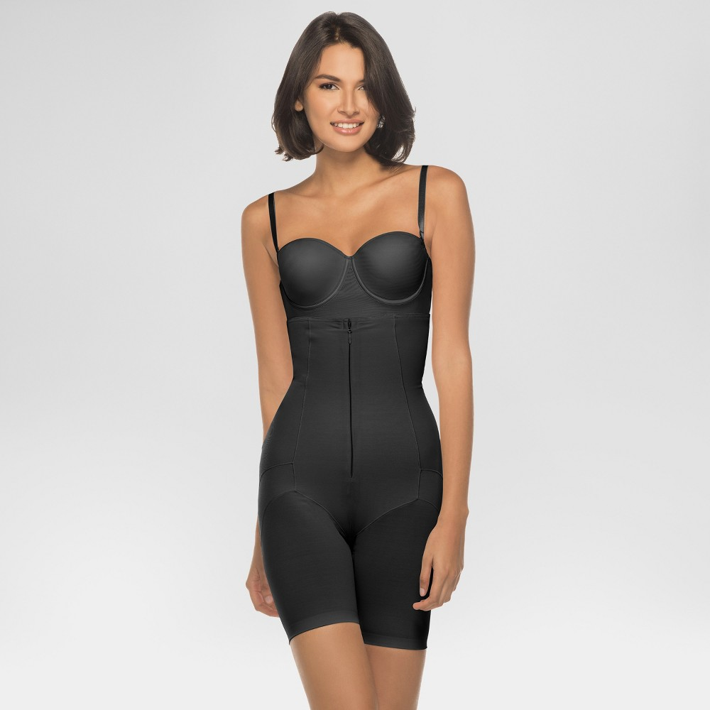 Annette Women's Faja Extra Firm Control High Waisted Mid-Thigh Shaper with Invisible Zipper - Black Xxxl