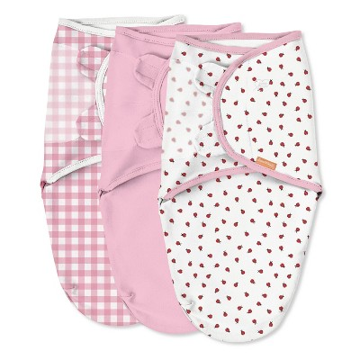 SwaddleMe Original Swaddle Wrap - Newborn S/M - Ladybug Picnic 3pk
