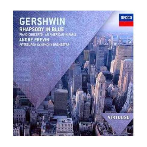 Gershwin & Piano] - Virtuoso: Gershwin- Rhapsody In Blue/Piano Concerto/American In Paris (CD) - image 1 of 1