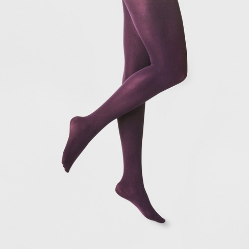 ce945d8c484e7 Women's 50D Opaque Tights - A New Day™ Purple L/XL : Target
