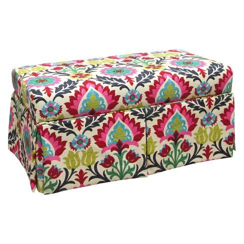 Enjoyable Skirted Storage Bench Santa Maria Desert Flower Skyline Furniture Spiritservingveterans Wood Chair Design Ideas Spiritservingveteransorg