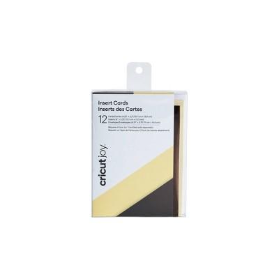 Cricut Joy 12ct Insert Cards Cream/Gunmetal