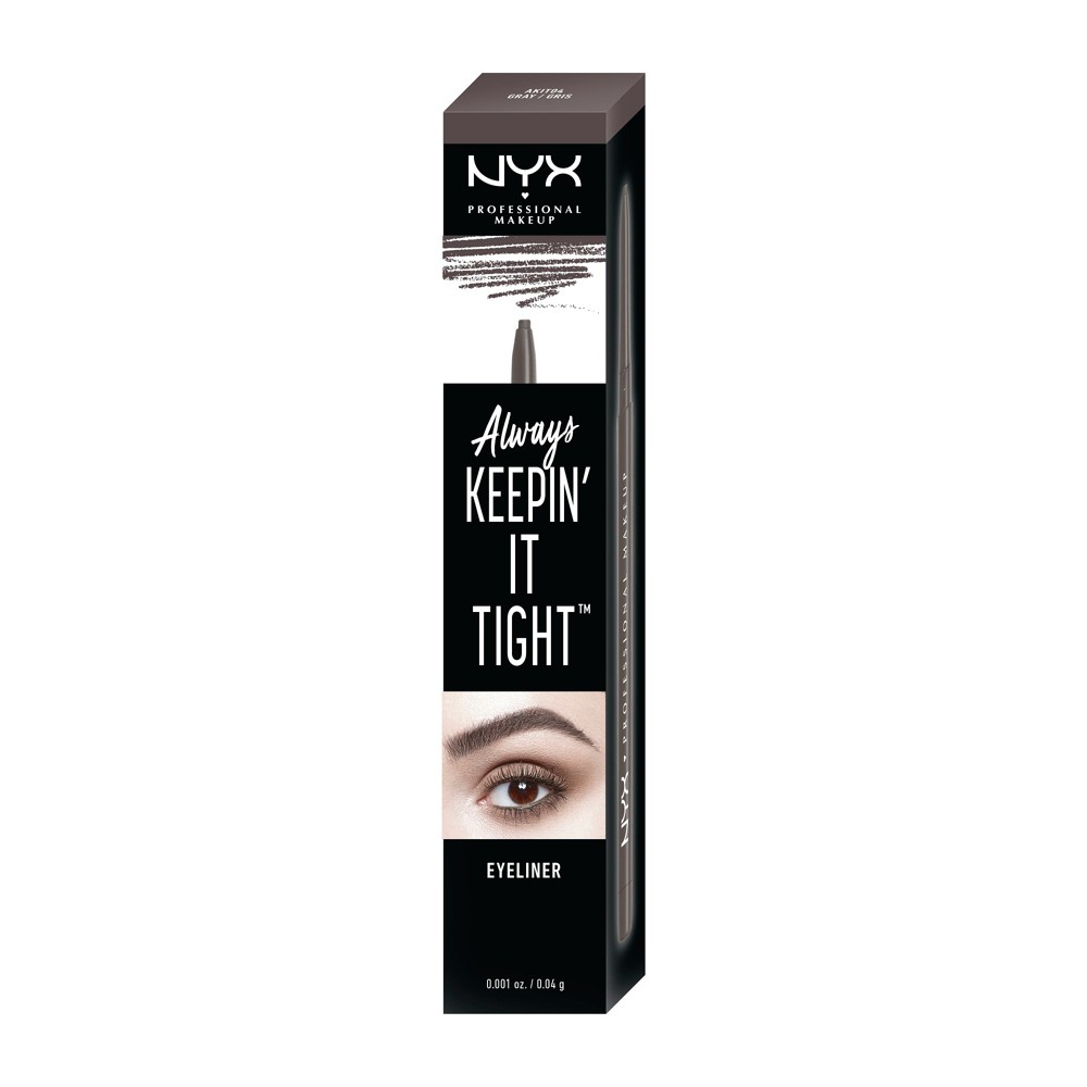 Nyx Professional Makeup Always Keepin' It Tight Eyeliner Gray - 0.04oz