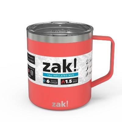 Zak Designs Designs13oz DW SS Camp Mug - Coral