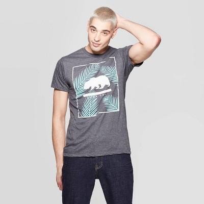 Men's Short Sleeve Crewneck Nor Cal Bear Graphic T-Shirt - Awake Gray M