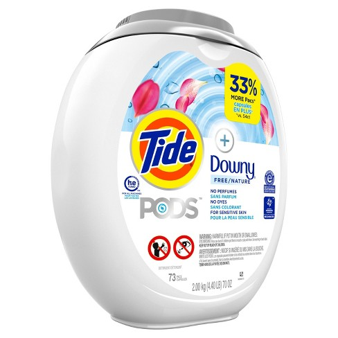 Tide Pods +Downy Free Liquid Laundry Detergent Pacs - 73ct - image 1 of 3