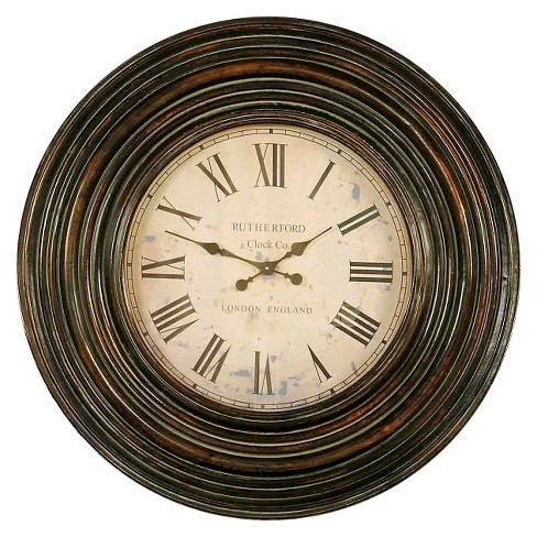 "Trudy 38"" Wooden Wall Clock Brown - Uttermost - image 1 of 2"