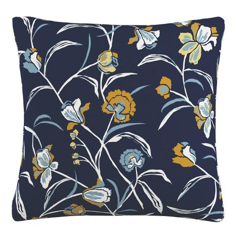 Throw Pillow Skyline Furniture Navy Amber Yellow White - image 1 of 4