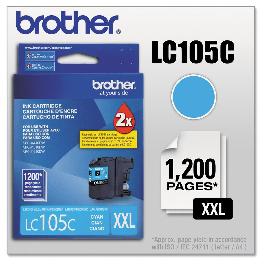 Brother LC105C Innobella Super High-Yield Single Ink Cartridge - Cyan (Blue) (BRTLC105C)