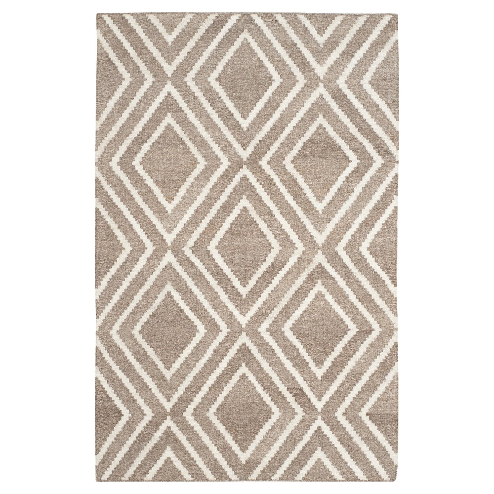 Taupe/Ivory Abstract Woven Area Rug - (4'x6') - Safavieh, Brown/Ivory