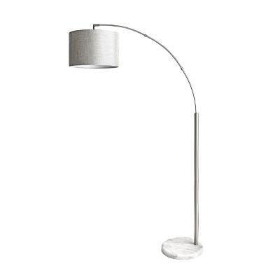 "nuLOOM Belton 69"" Marble Floor Lamp Lighting - Silver 68.5"" H x 37"" W x 12"" D"