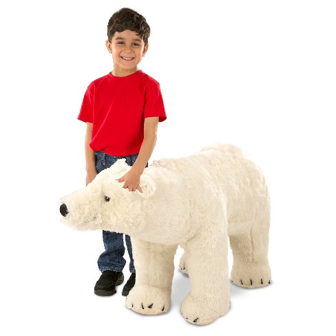 Melissa & Doug® Giant Polar Bear - Lifelike Stuffed Animal (nearly 3 feet long) - image 1 of 2