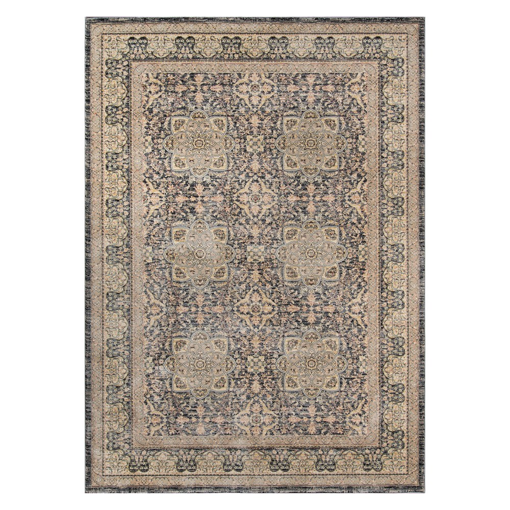 4'X6' Floral Loomed Area Rug Gray - Momeni