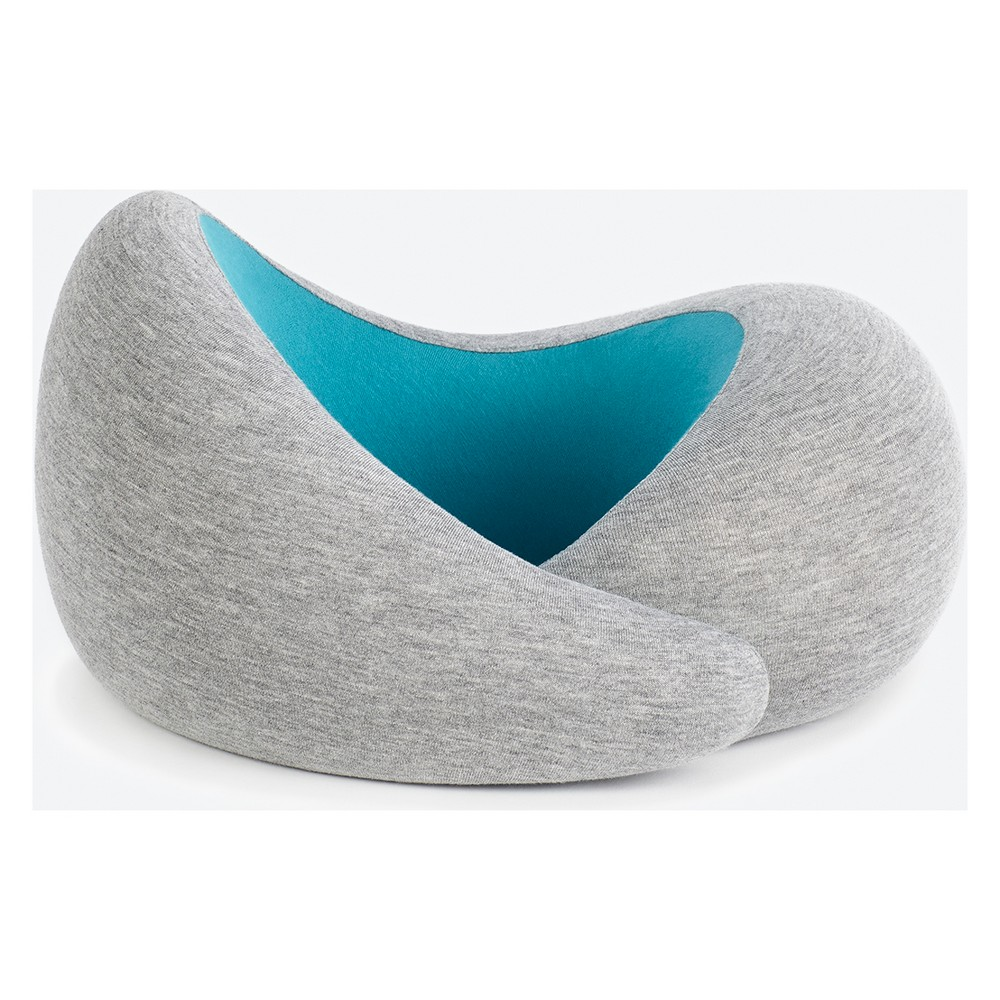 Ostrich Go Travel Pillow - Gray/Aqua (Blue)