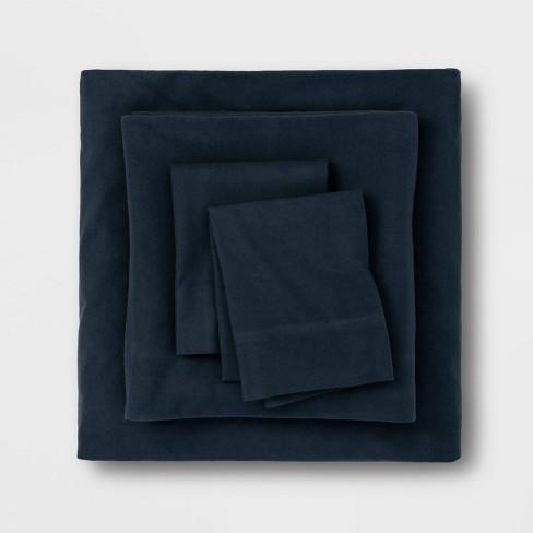 Solid Flannel Sheet Set Threshold Target