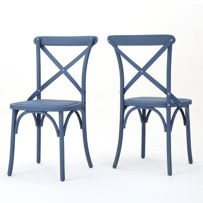 Danish 2pk Plastic Nylon Dining Chairs - Christopher Knight Home