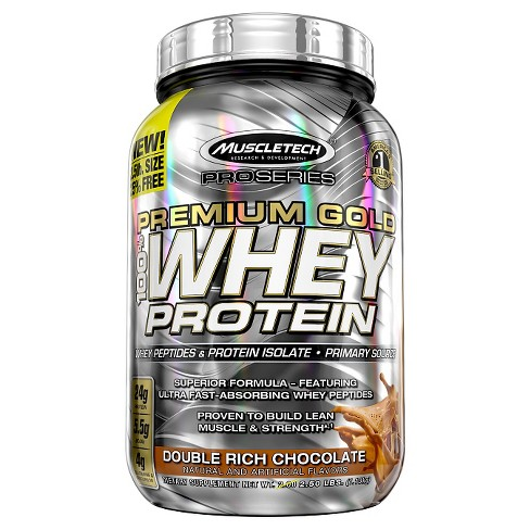 Muscle Tech Premium Gold Whey Protein Powder - Double Rich Chocolate - 2.5lbs - image 1 of 1