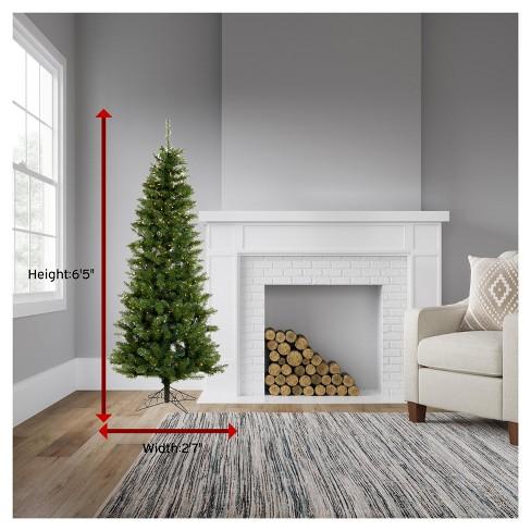 65ft pre lit artificial christmas tree salem pencil clear lights target