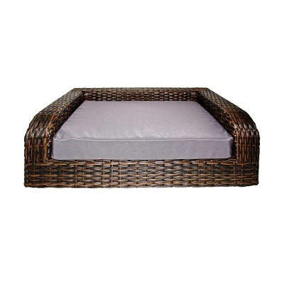 Iconic Beds for Dogs and Cats - Rattan Sofa - Brown