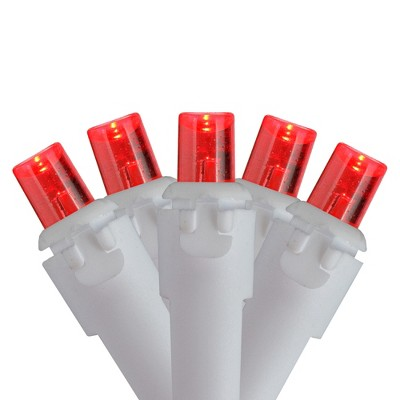 Brite Star Set of 70 Red LED Wide Angle Icicle Christmas Lights - 6ft White Wire