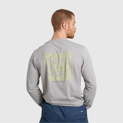 Men's United By Blue Organic Make an Impact Long Sleeve Graphic T-Shirt - Limestone