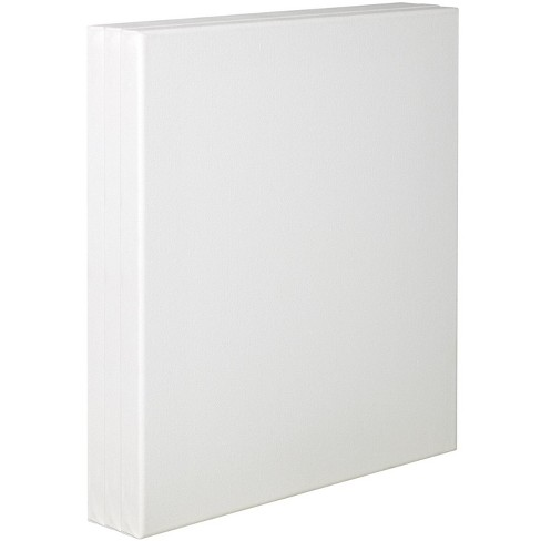 Tara Stretched Back Stapled Cotton Canvas, 8 x 10 Inches, White, pk of 3 - image 1 of 1