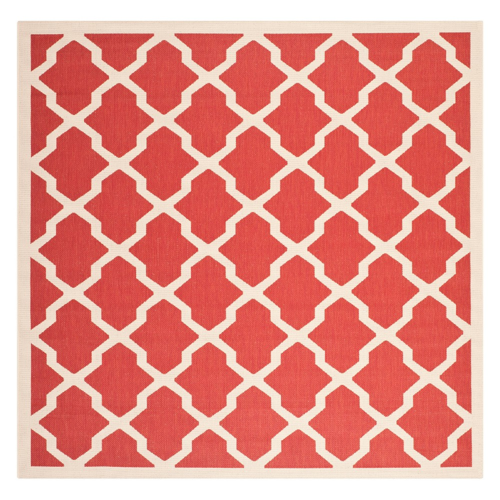 Best 710X710 Square Malaga Outdoor Rug Red Bone - Safavieh