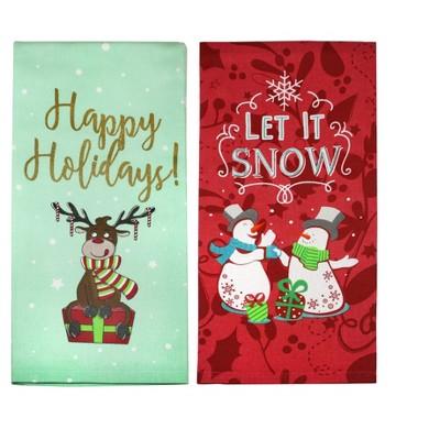 Set of 2 Happy Holiday Kitchen Towel - MU Kitchen