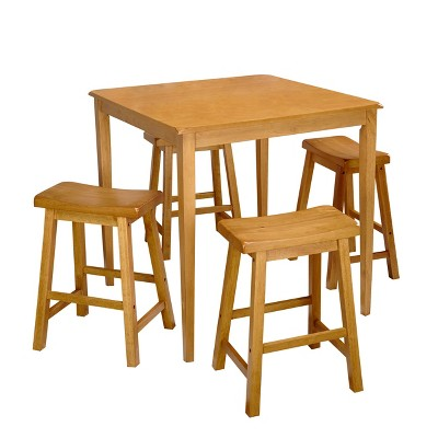 5pc Atmore Saddle Counter Height Set - Buylateral