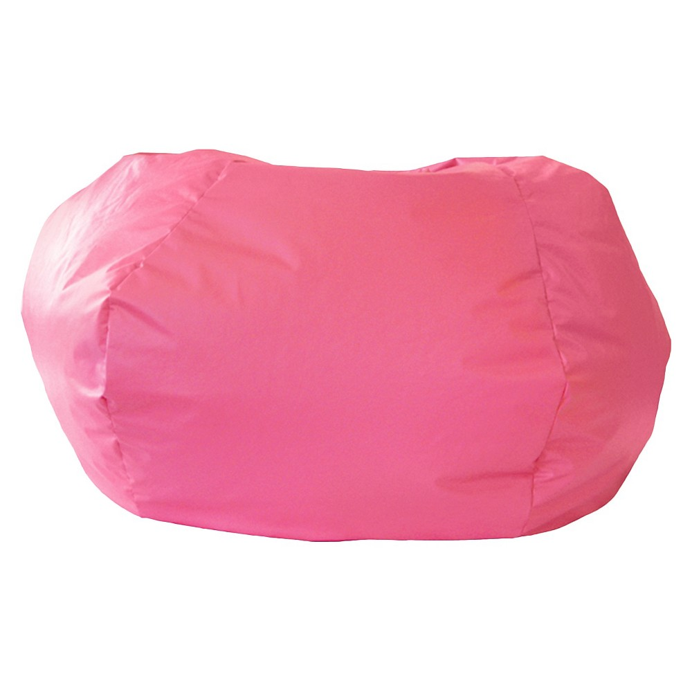 Gold Medal Leather Look Bean Bag Chair - Pink