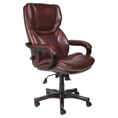 Tall Executive Chair Redwood Leather Serta