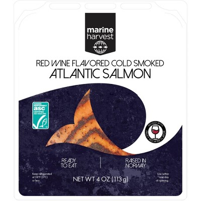 Marine Harvest Norwegian Red Wine Flavored Cold Smoked Salmon - 4oz