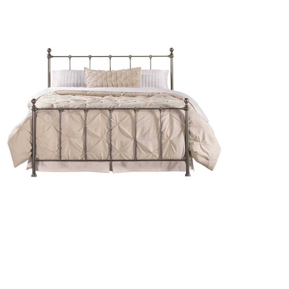 Molly Bed Set With Frame- Queen - Black Steel - Hillsdale Furniture