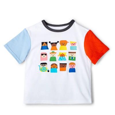 Toddler Kids-Print Color Block Short Sleeve T-Shirt - Christian Robinson x Target White