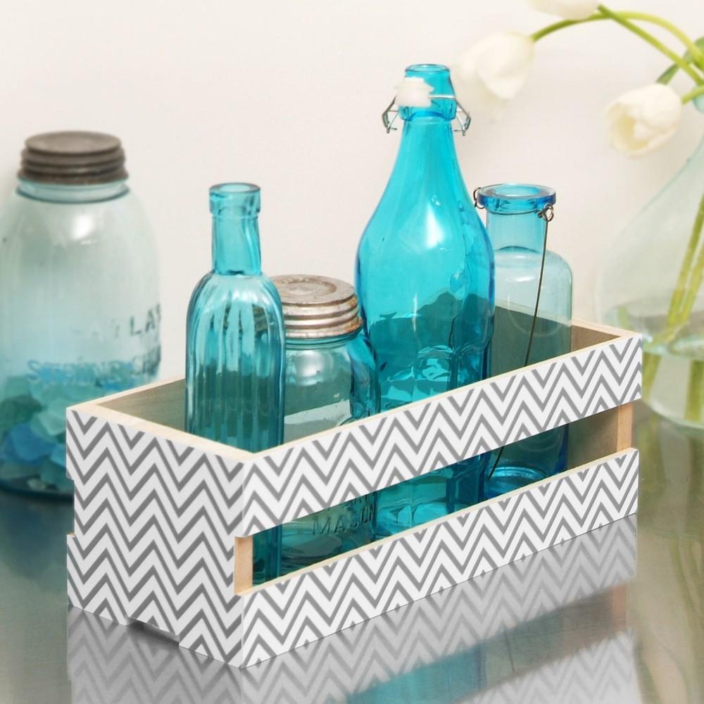 Con-Tact Brand Creative Covering Multipurpose Shelf Liner - Textured Chevron Gray (18x 20')