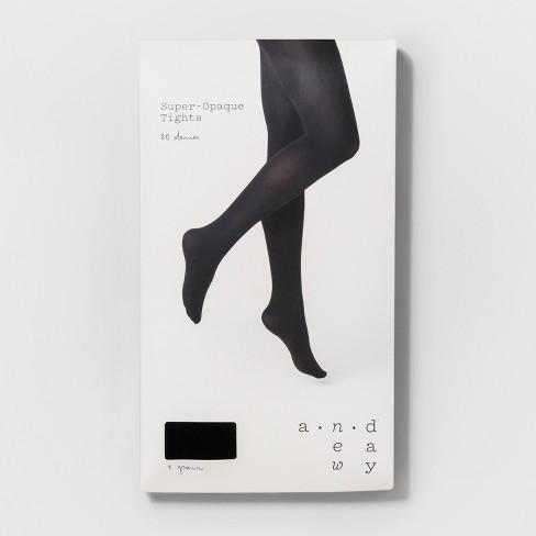 1d5aeb86d2f4f Women's 80D Super Opaque Tights - A New Day™ Black : Target