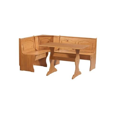 Super Chelsea Nook Dining Table Set With Black Cushion Linon Spiritservingveterans Wood Chair Design Ideas Spiritservingveteransorg