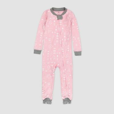 Honest Baby Girls' Play Organic Cotton Footed Pajama - Pink 12M