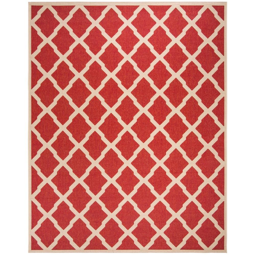9'X12' Geometric Loomed Area Rug Red/Cream - Safavieh