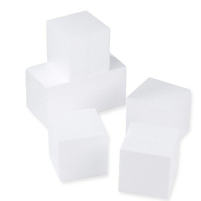 Foam Blocks, Arts and Crafts Supplies (4 x 4 x 4 in, 6-Pack)