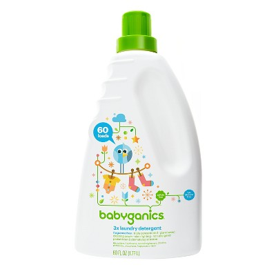 Babyganics 3x Laundry Detergent, Fragrance Free - 60oz