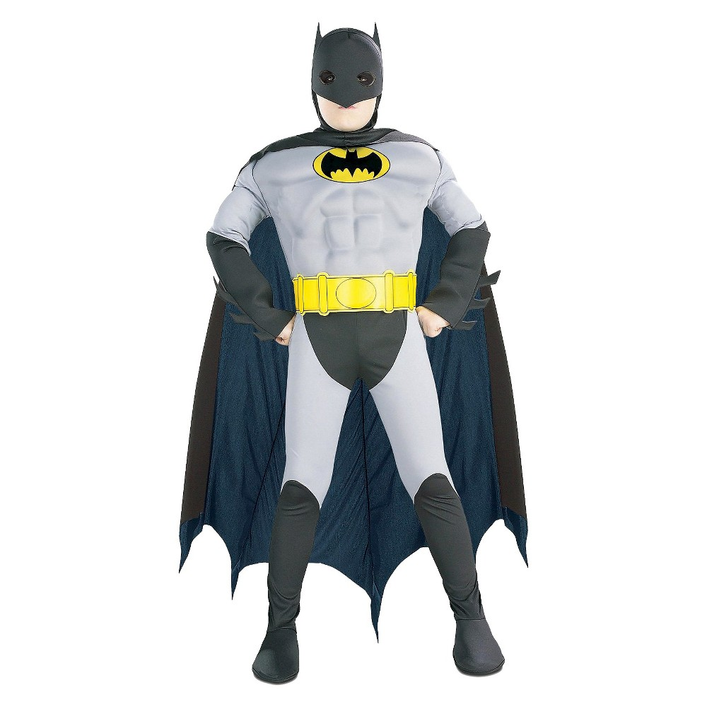 Image of Halloween Batman Classic Boys' Muscle Chest Costume - Small (4-6), Boy's, Size: Small(4-6)