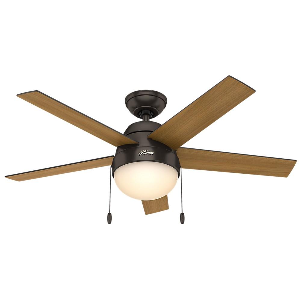 """Image of """"46"""""""" Anslee Premier Ceiling Fan with Light Bronze - Hunter Fan"""""""