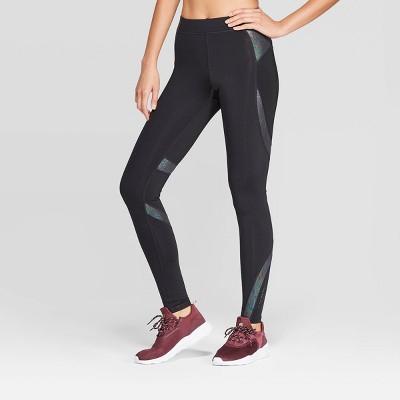 "Women's Running Iridescent Print Mid Rise Leggings 28.5""   C9 Champion® Black by C9 Champion"