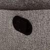 Reston Pillow Top Arms Recliner Sofa Light Gray - miBasics - image 2 of 4