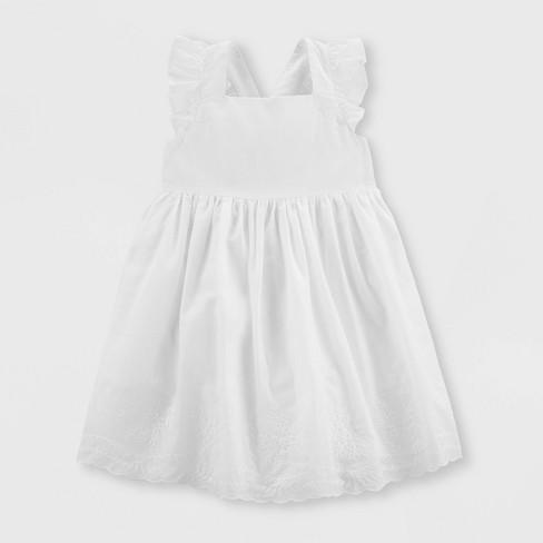 86bf701c094 OshKosh B gosh Toddler Girls  Solid A-Line Dress - White 4T   Target