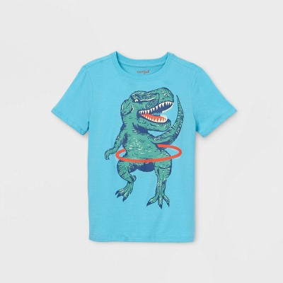 Boys' Short Sleeve Hula Hoop T-Rex Graphic T-Shirt - Cat & Jack™ Blue